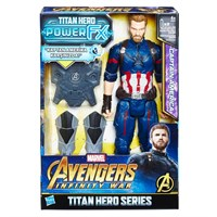 Avengers Infinity War Titan Hero Power FX Captain America Figür 30 cm. E0607